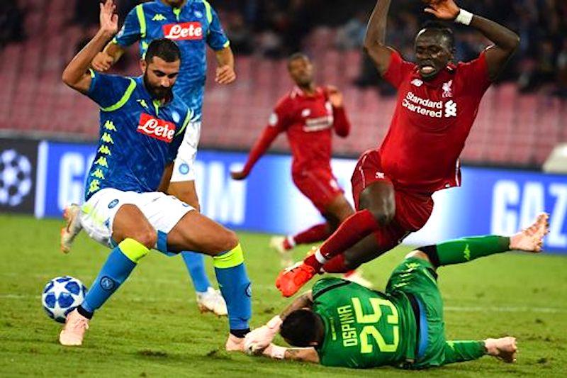 Napoli och liverpool forlorade