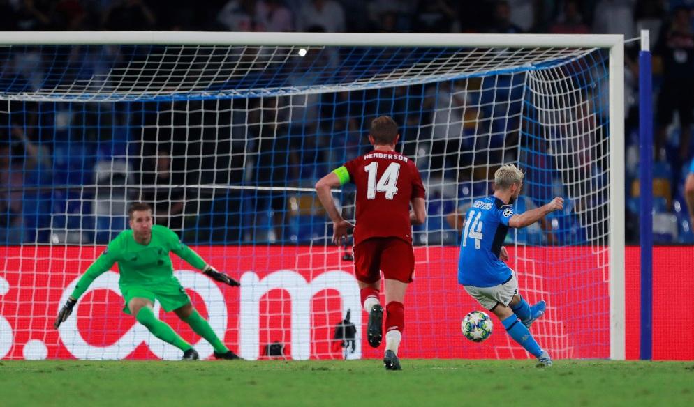 Tävlingen Napoli - Liverpool rättad