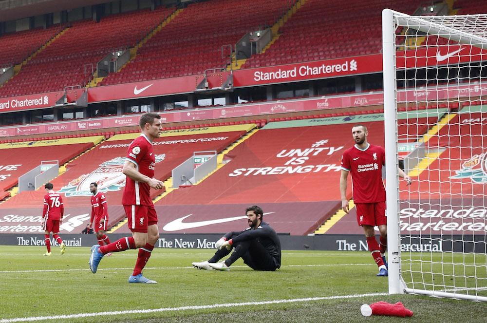 Rapport: Sjätte raka förlusten på Anfield